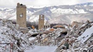 Centro Italia martoriato da bufere di neve e terremoti