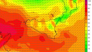 Sicilia, intensi venti di libeccio/ponente per lunedì 6 febbraio 2017. Ecco le condizioni meteo-marine