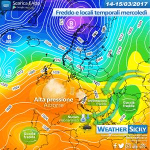 Sicilia, migliora martedì. Calo termico e locali temporali pomeridiani mercoledì