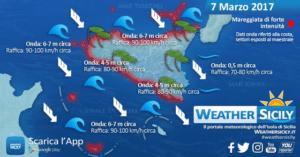 Sicilia, miglioramento in arrivo in compagnia di fresche correnti settentrionali