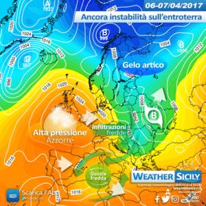 Sicilia: variabilità sabato, nuvolosità diffusa domenica con locali piovaschi sparsi