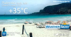 Sicilia, caldo accompagnato da forti venti di Scirocco. Ecco i dettagli delle condizioni meteo-marine