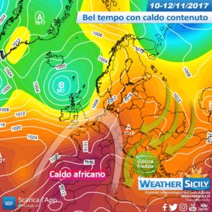 Caldo africano nei prossimi giorni? Non in Sicilia, al momento..
