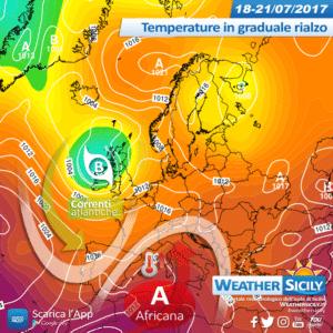 Sicilia, l'alta pressione africana si ritira: temperature in calo, vento e instabilità sparsa Domenica