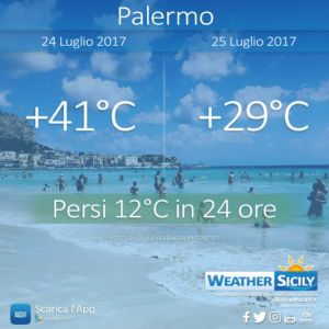 Social News | Temperature minime del 26 luglio 2017 in Sicilia
