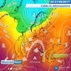 Sicilia, l'autunno meteorologico inaugura a suon di Libeccio e temperature over +35°C. Crollo termico da Domenica