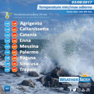 Sicilia, focus sul peggioramento atteso sabato pomeriggio