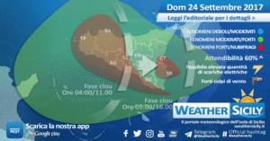 Sicilia, si attende una Domenica temporalesca: rischio nubifragi
