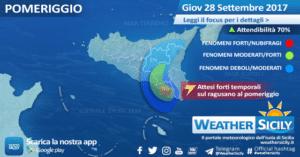 Sicilia, intenso maltempo sul siracusano ionico. Al pomeriggio attesi forti temporali sul ragusano