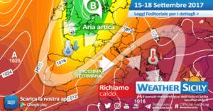 Sicilia, test autunnale in arrivo: atteso un crollo delle temperature (-8°C rispetto alla media stagionale)