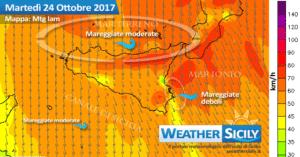 Sicilia: flusso artico fino a mercoledì. Martedì il picco del freddo/vento