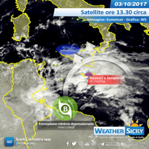 Sicilia, depressione africana porta tanta incertezza. Rischio nubifragi sul versante orientale