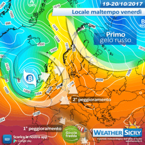 Sicilia, alta pressione in uscita: si aprono le porte atlantiche. Sblocco a partire dal weekend?