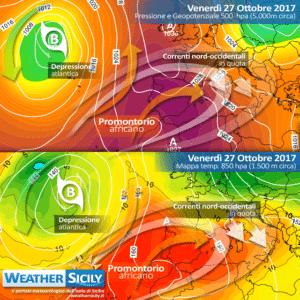 Sicilia, calo termico a partire da sabato. Attesa locale instabilità nel weekend