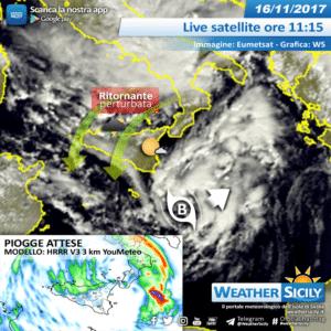 Sicilia, vortice depressionario punta il Mar Ionio: atteso un giovedì perturbato