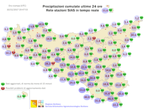 Sicilia, freddo artico e diffuso maltempo martedì