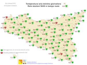 Lieve calo termico tra mercoledì e giovedì. Qualche pioggia sul nord Sicilia
