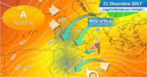 Sicilia, flusso artico in cedimento: ultime folate settentrionali e temperature in rialzo