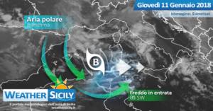 Sicilia, avanzano rovesci e temporali: arriva il nuovo peggioramento atlantico