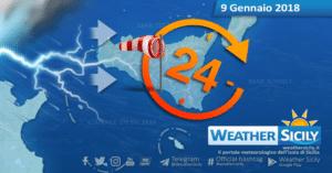 Sicilia, arriva la svolta meteo: crollo termico di 10 gradi. Insidiosa fase perturbata dalla notte