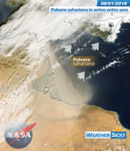 Social News | Polvere sahariana in arrivo dalla serata in Sicilia