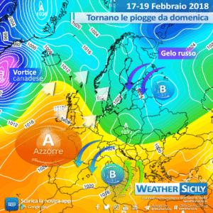 Sicilia, martedì instabilità in aumento e calo termico. Tendenza sul Buran atteso in Europa