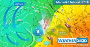 Sicilia: calo delle temperature, sostenuti venti e locale instabilità mercoledì