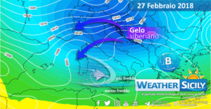 Sicilia, il gelo siberiano ci sfiora: atteso un crollo delle temperature, con fiocchi lunedì a bassa quota