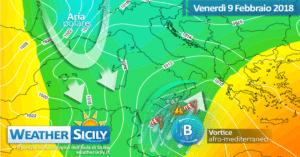 Sicilia: abbondanti nevicate in arrivo sull'Appennino tra oggi e sabato. Focus neve