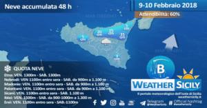 Sicilia, torna il maltempo venerdì. Possibili fenomeni intensi sul settore sud-orientale. Arriva la neve!