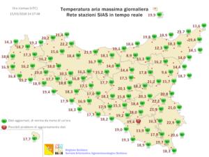 Sicilia, mercoledì localmente instabile. Nuovo rialzo termico tra giovedì e venerdì.