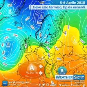 Sicilia: lieve calo termico giovedì con isolate piogge. Alta pressione a seguire.