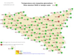 Sicilia: lieve calo termico giovedì in attesa del burrascoso weekend.