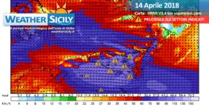 Sicilia, sabato burrascoso e mite. Calo termico a seguire con locali fasi di maltempo.