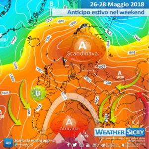 Sicilia: passaggio temporalesco martedì. Situazione in miglioramento a seguire.