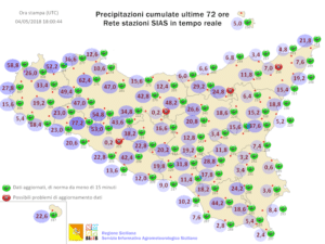Sicilia: weekend variabile con locali disturbi. Temperature in linea con la media stagionale.