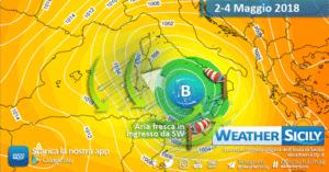 Sicilia: maggio esordisce con maltempo e forti venti. Atteso anche un calo delle temperature.