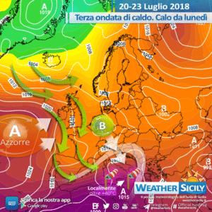 Sicilia: nel week-end arriva la terza ondata di calore di luglio. Crollo termico da lunedì.