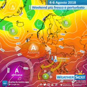 Sicilia, lieve calo termico e maltempo diffuso nel week-end: possibili fenomeni intensi!