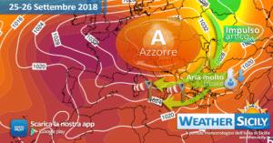 Sicilia, brusco e temporaneo crollo termico giovedì: temperature sotto media anche di 7/8°C.