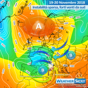 Sicilia: ulteriore e definitivo calo termico sabato. Instabilità in graduale esaurimento.
