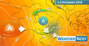 Sicilia: ennesimo peggioramento nel weekend. Attesa neve sull'Etna (specie sul versante sud).
