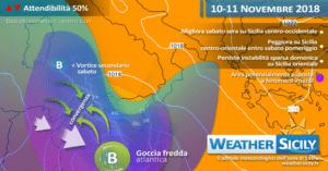 Sicilia: veloce impulso atlantico in arrivo. Seguiranno 48 h circa di alta pressione ma con variabilità sparsa.