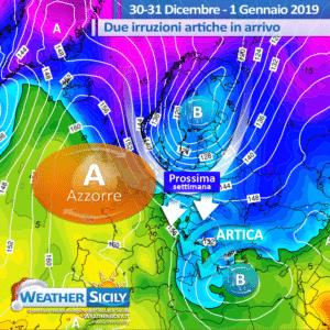 Sicilia, si spalancano le porte dell'Artico: prima irruzione per Capodanno.