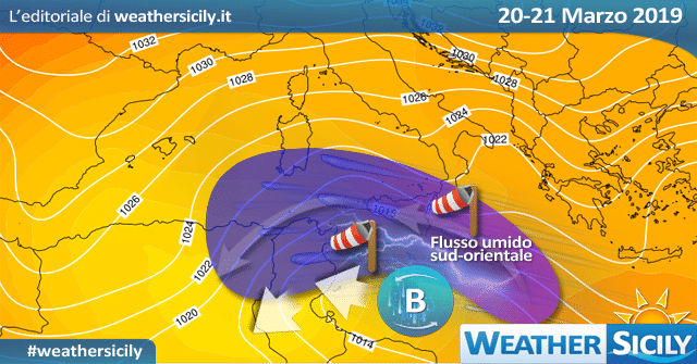 Sicilia: veloce peggioramento giovedì con forti venti. Alta pressione dal weekend.