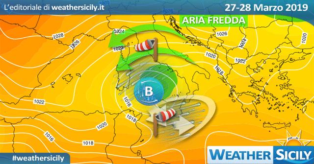 Sicilia: sensibile calo termico e maltempo tra mercoledì-giovedì.