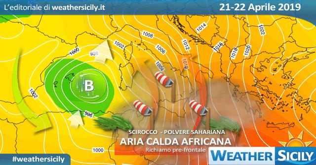 Sicilia: ancora maltempo venerdì, specie sulla fascia orientale.