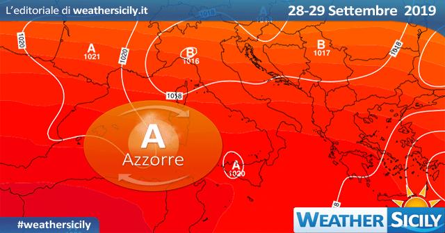 Sicilia, blanda instabilità su tirreniche al pomeriggio. Lieve calo termico.