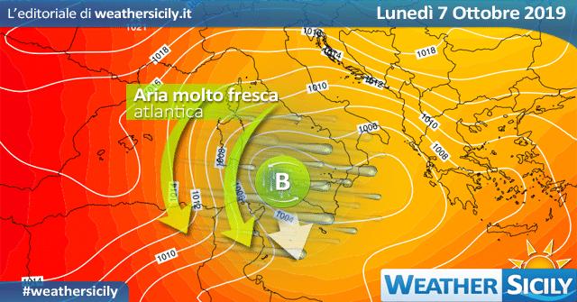 Sicilia, martedì maltempo sul comparto sud-orientale: possibili fenomeni intensi.