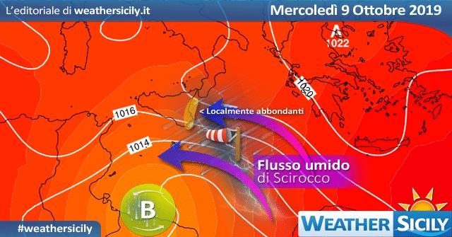 Sicilia: torna l'alta pressione nel weekend.